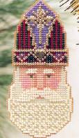 St Nicholas Beaded Ornament Kit Mill Hill 1999 Charmed Santa Faces