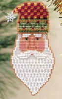 San Nicolo Beaded Ornament Kit Mill Hill 1999 Charmed Santa Faces