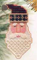 Saint Nick Beaded Ornament Kit Mill Hill 1999 Charmed Santa Faces