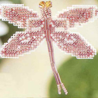 Rose Dragonfly Beaded Cross Stitch Kit Mill Hill 2000 Spring Bouquet