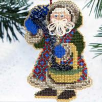 Northern Lights Santa Ornament Kit Mill Hill 2000 Starlight Santas