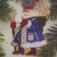 Frosty Santa Christmas Ornament Kit Mill Hill 2001 Woodland Santas