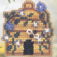 Bumble Bee Inn Bead Cross Stitch Kit Mill Hill 2001 Spring Bouquet