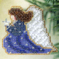 Starlight Angel Beaded Ornament Kit Mill Hill 2002 Winter Holiday