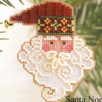 Santa Noel Beaded Ornament Kit Mill Hill 2002 Charmed Santa Faces