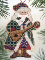 Mandolin Santa Bead Cross Stitch Kit Mill Hill 2002 Musical Santas