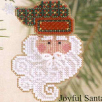Joyful Santa Beaded Ornament Kit Mill Hill 2002 Charmed Santa Faces