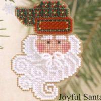 Joyful Santa Beaded Ornament Kit Mill Hill 2002 Charmed Santa Faces