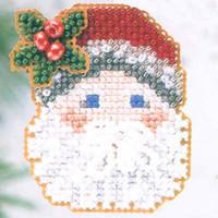 Mistletoe Santa Christmas Ornament Kit Mill Hill 2003 Winter Holiday