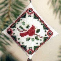 Holiday Cardinal Tiny Treasured Diamond Bead Kit Mill Hill 2003