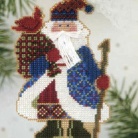 Cardinal Santa Beaded Ornament Kit Mill Hill 2003 Alpine Santas