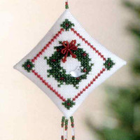 Winterbird Wreath Tiny Treasured Diamond Ornament Kit Mill Hill 2004