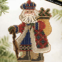Mt McKinley Santa Bead Ornament Kit Mill Hill 2004 Mountaineer Santas