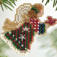 Christmas Angel Beaded Ornament Kit Mill Hill 2004 Winter Holiday