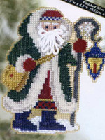 Glacier Santa Bead Christmas Ornament Kit Mill Hill 2005 Polar Santas