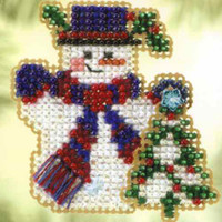 Frosty Fir Bead Christmas Ornament Kit Mill Hill 2005 Winter Holiday