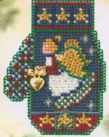 Angel Heart Bead Stitched Ornament Kit Mill Hill 2005 Mitten Ornaments