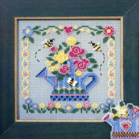 Watering Can Cross Stitch Kit Mill Hill 2006 Buttons & Beads Spring