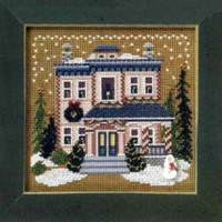 Victorian House Cross Stitch Kit Mill Hill 2006 Buttons & Beads Winter