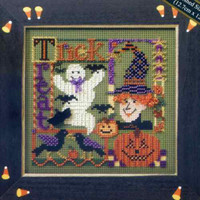 Trick or Treat Collage Bead Cross Stitch Kit Mill Hill Buttons & Beads