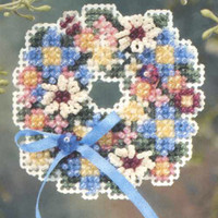 Spring Wreath Beaded Cross Stitch Kit Mill Hill 2006 Spring Bouquet