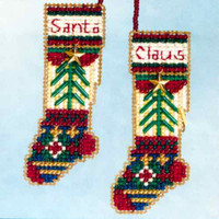 Santa's Stockings Beaded Ornament Kit Mill Hill 2006 Santa's Closet