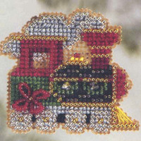 Holiday Express Bead Ornament Kit Mill Hill 2006 Winter Holiday