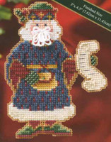 Canterbury Santa Beaded Ornament Kit Mill Hill 2006 Medieval Santas