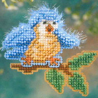 Bye Bye Birdie Beaded Cross Stitch Kit Mill Hill 2006 Spring Bouquet