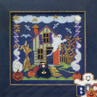 Boo House Cross Stitch Kit Mill Hill 2006 Buttons & Beads Autumn