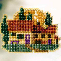 Tuscan Cottage Bead Cross Stitch Kit Mill Hill 2007 Spring Bouquet