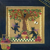 Apple Adventure Cross Stitch Kit Mill Hill 2007 Buttons & Beads