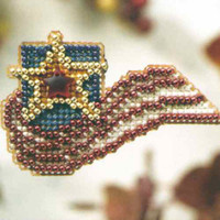 Stars & Stripes Beaded Cross Stitch Kit Mill Hill 2008 Autumn Harvest