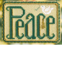 Peace Beaded Cross Stitch Ornament Kit Mill Hill 2008 Winter Greetings