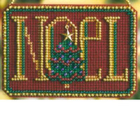 Noel Bead Christmas Ornament Kit Mill Hill 2008 Winter Greetings