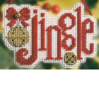 Jingle Bead Cross Stitch Ornament Kit Mill Hill 2008 Winter Greetings