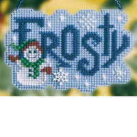 Frosty Bead Cross Stitch Ornament Kit Mill Hill 2008 Winter Greetings