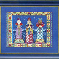 Three Kings Kit Cross Stitch Chart, Fabric, Beads, Kreinik, Jim Shore JSP006