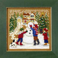 Snow Day Cross Stitch Kit Mill Hill 2009 Buttons & Beads Winter
