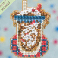 Root Beer Float Beaded Cross Stitch Kit Mill Hill 2009 Spring Bouquet