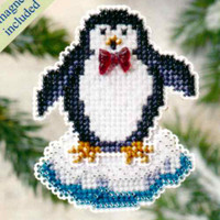 Proud Penguin Beaded Ornament Kit Mill Hill 2009 Winter Holiday