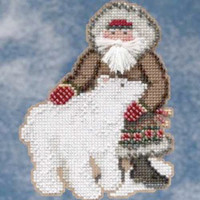 Nunavut Santa Beaded Ornament Kit Mill Hill 2009 Arctic Circle Santas