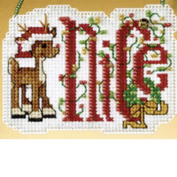 Nice Beaded Cross Stitch Ornament Kit Mill Hill 2009 Winter Greetings