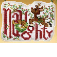 Naughty Bead Cross Stitch Ornament Kit Mill Hill 2009 Winter Greetings