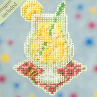 Lemonade Beaded Cross Stitch Kit Mill Hill 2009 Spring Bouquet