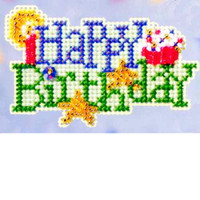 Happy Birthday Bead Cross Stitch Kit Mill Hill 2009 Spring Bouquet