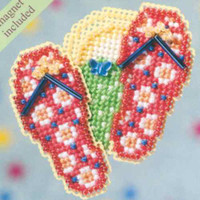 Flip Flops Beaded Cross Stitch Kit Mill Hill 2009 Spring Bouquet