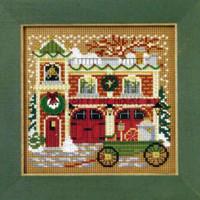 Firehouse Cross Stitch Kit Mill Hill 2009 Buttons & Beads Winter