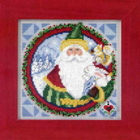 Father Christmas 2009 Cross Stitch Kit Mill Hill 2009 Jim Shore Santas