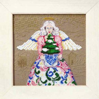 Winter Angel Beaded Cross Stitch Kit Mill Hill 2010 Jim Shore Angels